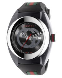Gucci Sync  Quartz Men's Watch, Stainless Steel, Black Dial, YA137101