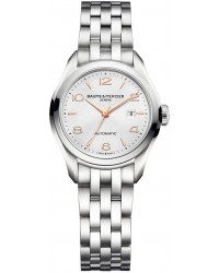 Baume & Mercier Clifton  Automatic Women's Watch, Stainless Steel, Silver Dial, MOA10150