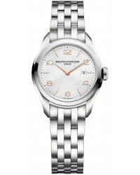 Baume & Mercier Clifton  Quartz Women's Watch, Stainless Steel, Silver Dial, MOA10175