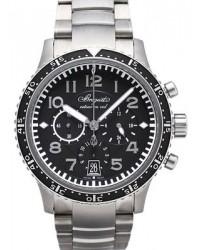 Breguet Type XX  Chronograph Automatic Men's Watch, Titanium, Black Dial, 3810TI/H2/TZ9