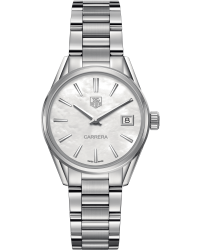Tag Heuer Carrera  Quartz Women's Watch, Stainless Steel, Mother Of Pearl Dial, WAR1311.BA0778