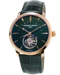 Frederique Constant Tourbillon  Automatic Men's Watch, 18K Rose Gold, Green Dial, FC-980DG4S9