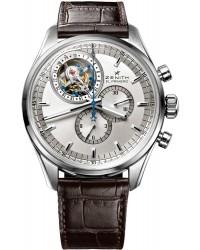 Zenith El Primero  Tourbillon Unisex Watch, Stainless Steel, Silver Dial, 03.2050.4035/01.C713
