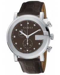 Gucci G-Chrono  Chronograph Quartz Men's Watch, Stainless Steel, Brown Dial, YA101344