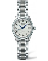Longines Master  Automatic Women's Watch, Stainless Steel, Silver Dial, L2.128.4.78.6