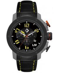 LIV Genesis X1  Chronograph Quartz Men's Watch, Gunmetal, Black Dial, 1230.45.13.A400