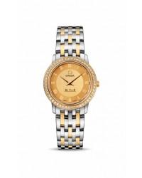 Omega De Ville  Quartz Women's Watch, 18K Yellow Gold, Champagne Dial, 413.25.27.60.08.001