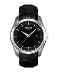 Tissot Couturier  Quartz Men's Watch, Stainless Steel, Black Dial, T035.410.16.051.00