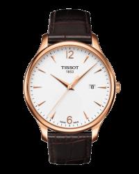 Tissot T-Classic Tradition  Quartz Men's Watch, Gold Plated, White Dial, T063.610.36.037.00