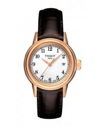 Tissot Carson Lady  Quartz Women's Watch, Rose Gold Plated, White Dial, T085.210.36.012.00