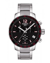 Tissot Quickster  Chronograph Quartz Men's Watch, Stainless Steel, Black Dial, T095.417.11.057.00