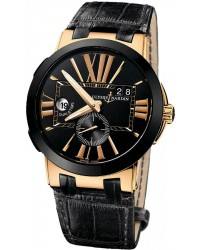 Ulysse Nardin Nifty / Functional  Automatic Men's Watch, Ceramic & Gold, Black Dial, 246-00/42