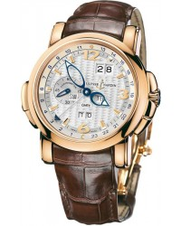 Ulysse Nardin Nifty / Functional  Automatic Men's Watch, 18K Rose Gold, White Dial, 326-60/60
