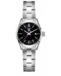 Tag Heuer Carrera  Quartz Women's Watch, Stainless Steel, Black Dial, WV1414.BA0793