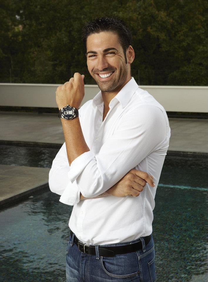 Pro golfer Alvaro Quintos wearing Concord watch