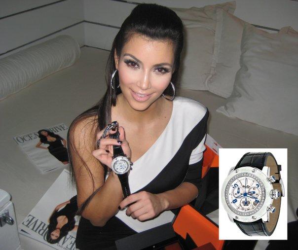 Kim Kardashian with Glam Rock Watch