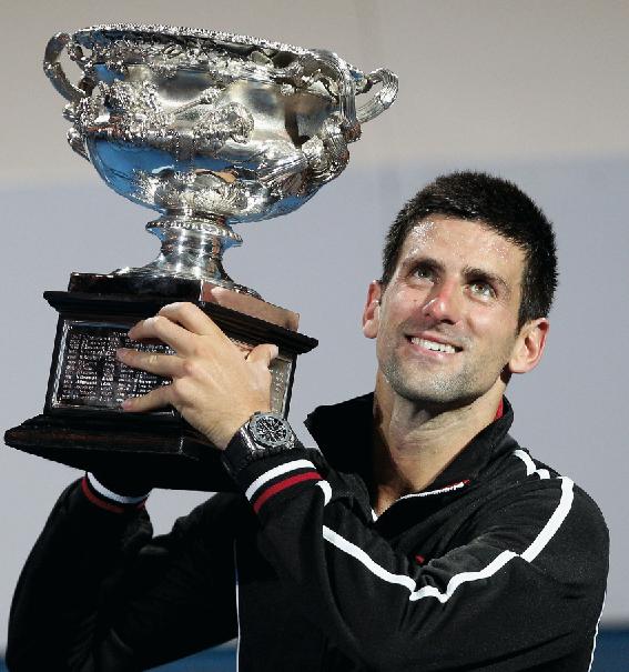 Audemars Piguet ambassador Novak Djokovic wins the Australian Open