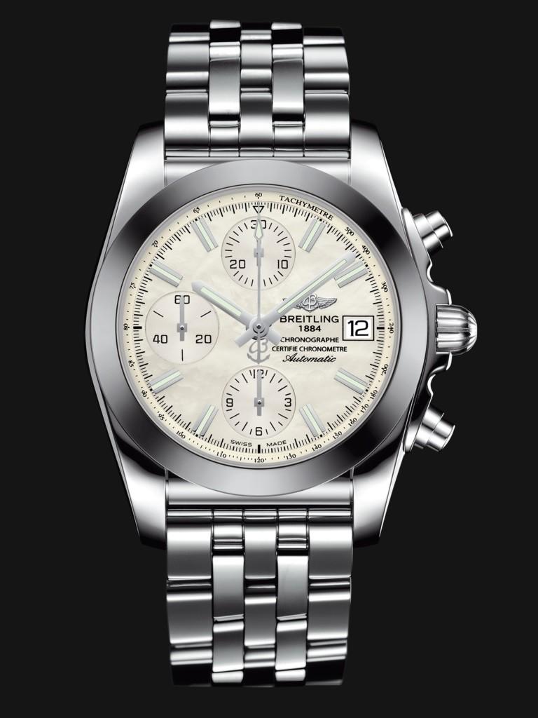 Chronomat 38 SleekT - Mother-of-Pearl Steel Bracelet