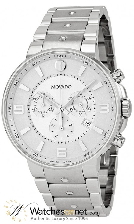 Movado SE Pilot  Quartz Men's Watch, Stainless Steel, Silver Dial, 606760