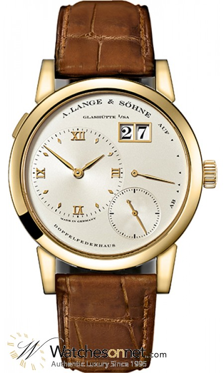 A. Lange & Sohne Lange 1  Manual Winding Men's Watch, 18K Yellow Gold, Silver Dial, 101.021