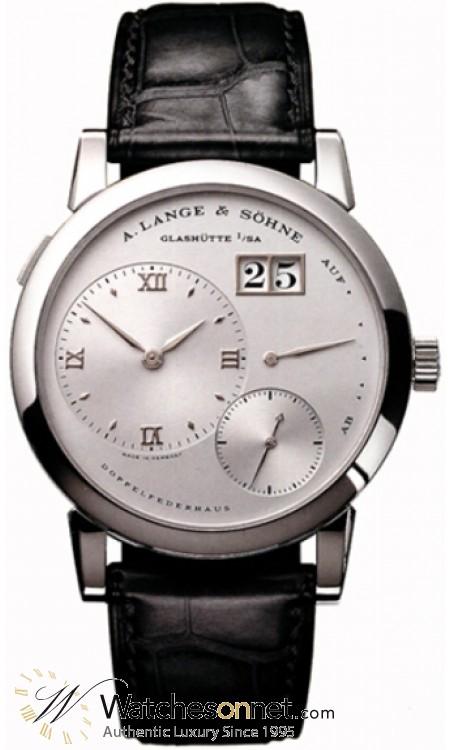A. Lange & Sohne Lange 1  Manual Winding Men's Watch, Platinum, Silver Dial, 101.025