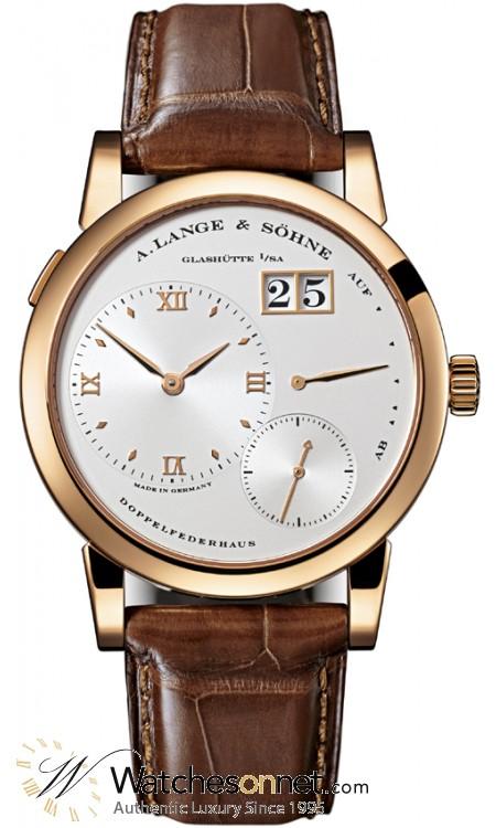 A. Lange & Sohne Lange 1  Manual Winding Men's Watch, 18K Rose Gold, Silver Dial, 101.032