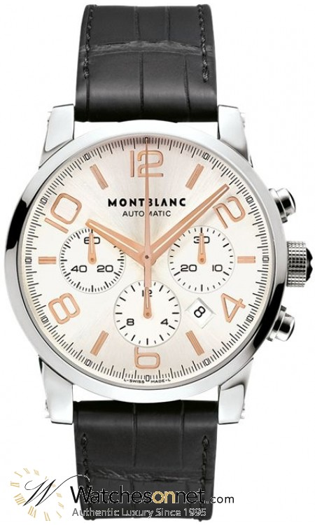 Montblanc Timewalker Chronograph Automatic  Chronograph Automatic Men's Watch, Stainless Steel, Silver Dial, 101549