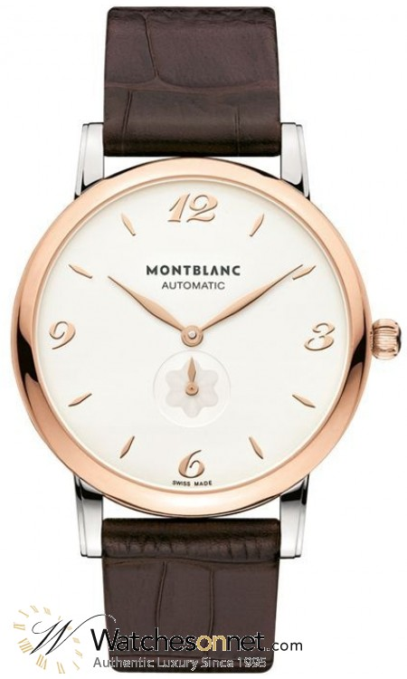 Montblanc Star Classique Automatic  Automatic Men's Watch, Steel & 18K Rose Gold, Silver Dial, 107309