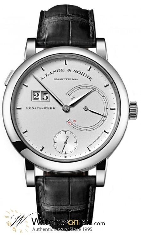 A. Lange & Sohne Lange 31  Manual Winding Men's Watch, Platinum, Silver Dial, 130.025
