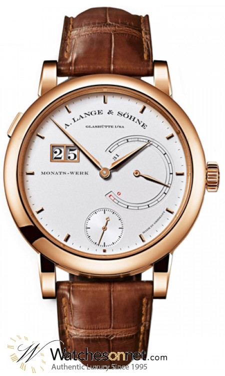A. Lange & Sohne Lange 31  Manual Winding Men's Watch, 18K Rose Gold, Silver Dial, 130.032