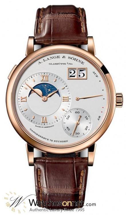 A. Lange & Sohne Grand Lange 1  Manual Winding Men's Watch, 18K Rose Gold, Silver Dial, 139.032