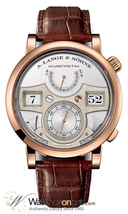 A. Lange & Sohne Lange Zeitwerk  Manual Winding Men's Watch, 18K Rose Gold, Silver Dial, 145.032