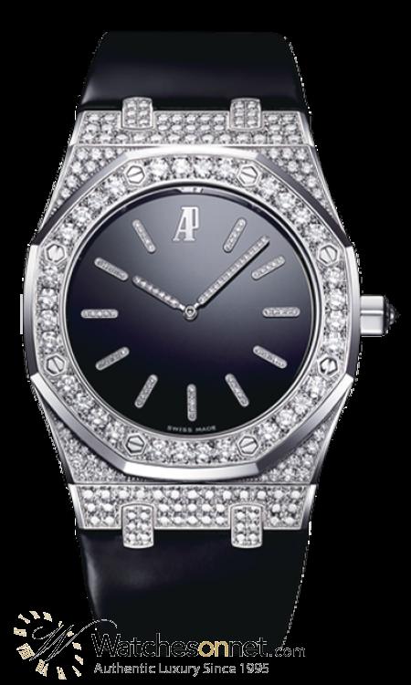 Audemars Piguet Royal Oak  Automatic Men's Watch, 18K White Gold, Black Dial, 15154BC.ZZ.D004CU.01