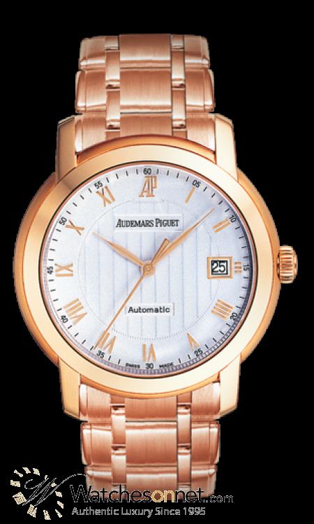 Audemars Piguet Jules Audemars  Automatic Men's Watch, 18K Rose Gold, White Dial, 15157OR.OO.1229OR.01