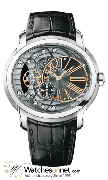 Audemars Piguet Millenary  Automatic Men's Watch, Stainless Steel, Skeleton Dial, 15350ST.OO.D002CR.01