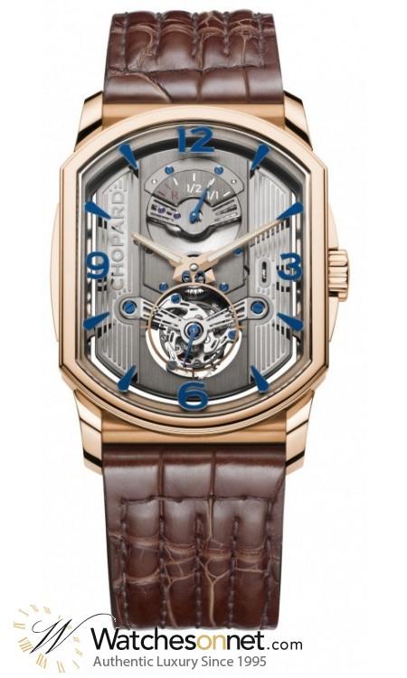 Chopard L.U.C  Mechanical Men's Watch, 18K Rose Gold, Silver Dial, 161939-5001