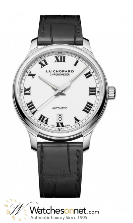 Chopard L.U.C  Mechanical Men's Watch, Stainless Steel, White Dial, 168558-3002