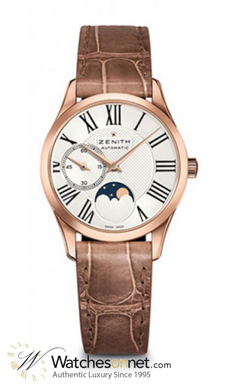 Zenith Heritage  Automatic Women's Watch, 18K Rose Gold, Silver Dial, 18.2310.692/02.C709