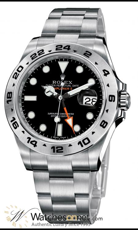 Rolex Explorer II  Automatic Men's Watch, Stainless Steel, Black Dial, 216570-BLK