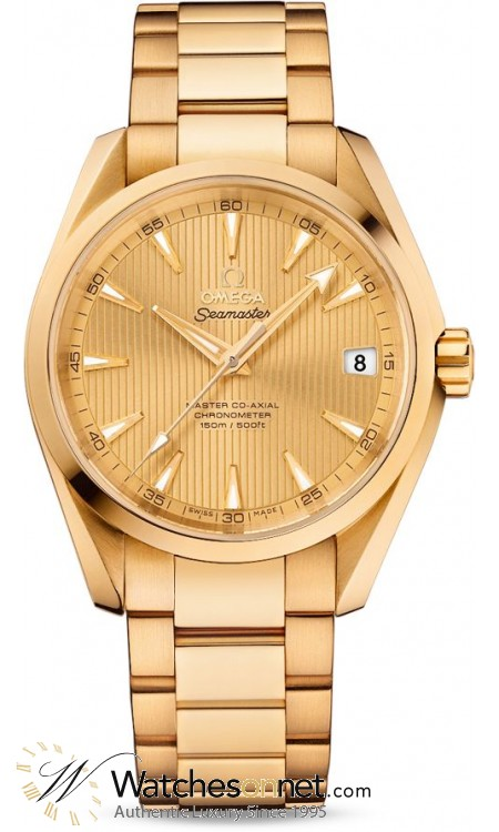 Omega Seamaster  Automatic Men's Watch, 18K Yellow Gold, Champagne Dial, 231.50.39.21.08.001
