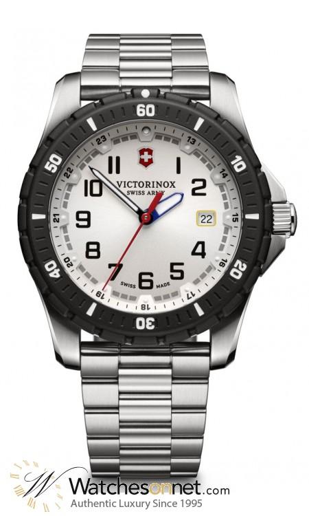 Victorinox Swiss Army Maverick  Quartz Men's Watch, Stainless Steel, Silver Dial, 241677