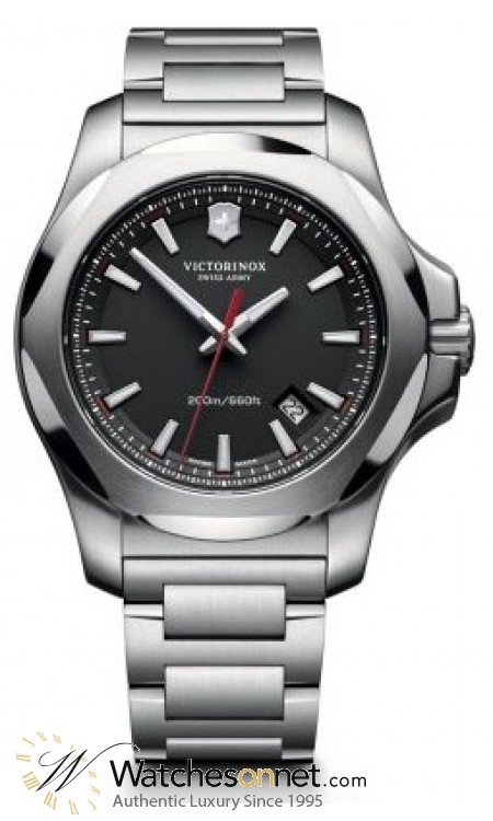 Victorinox Swiss Army I.N.O.X  Quartz Men's Watch, Stainless Steel, Black Dial, 241723.1