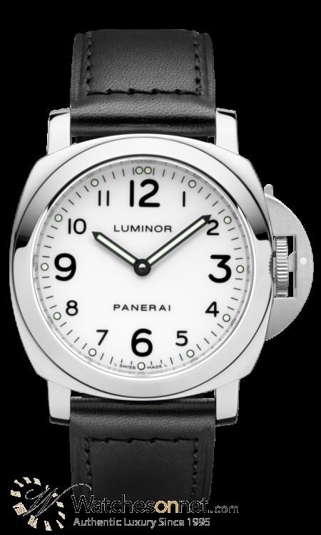 Panerai Luminor Base  Mechanical Men's Watch, Stainless Steel, White Dial, PAM00114