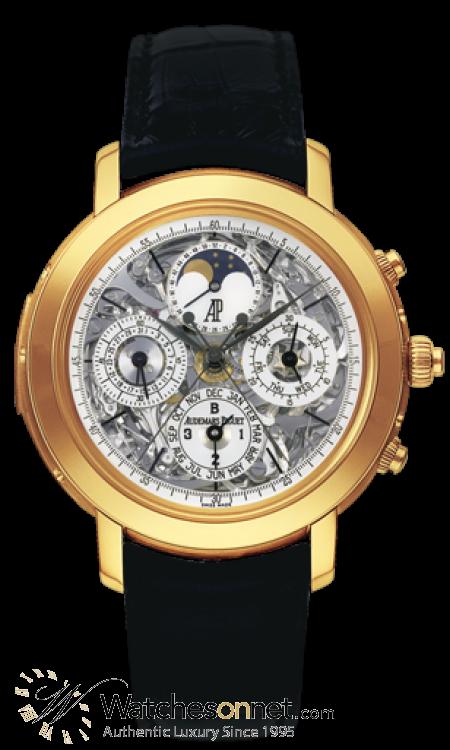 Audemars Piguet Jules Audemars  Chronograph Automatic Men's Watch, 18K Rose Gold, Skeleton Dial, 25996OR.OO.D002CR.01