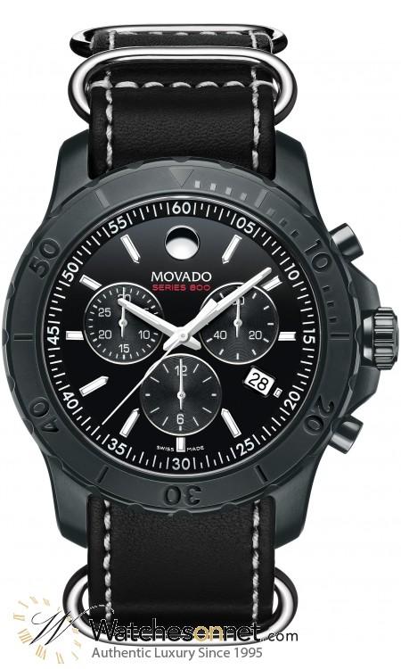 Movado Series 800  Quartz Men's Watch, PVD Black Steel, Black Dial, 2600131