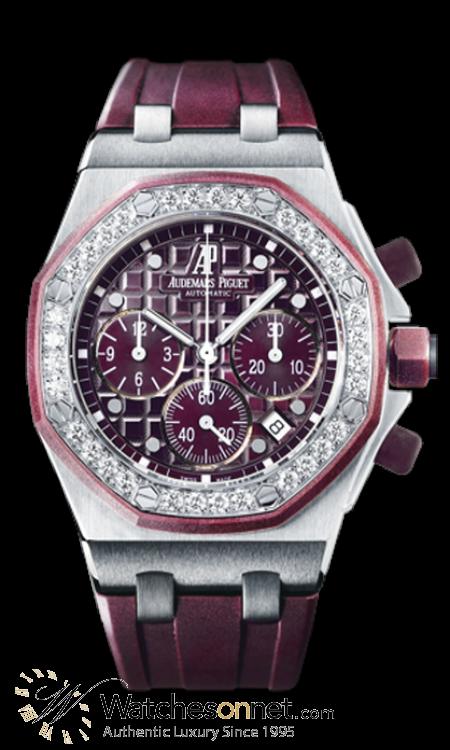 Audemars Piguet Royal Oak Offshore  Chronograph Automatic Women's Watch, Stainless Steel, Purple Dial, 26048SK.ZZ.D066CA.01