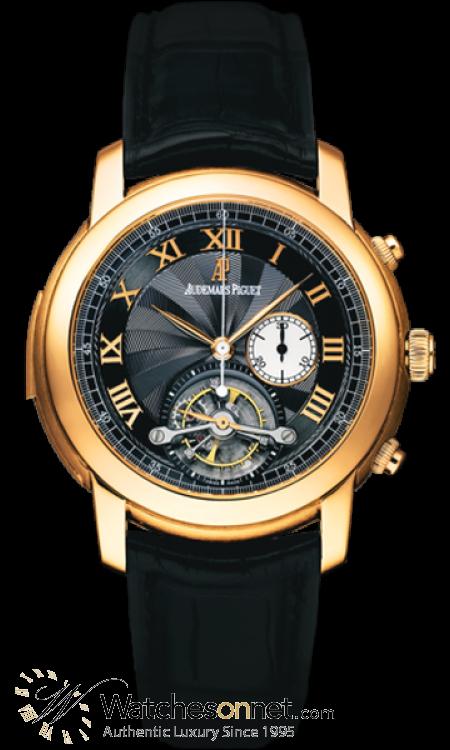 Audemars Piguet Jules Audemars  Tourbillon Men's Watch, 18K Rose Gold, Black Dial, 26050OR.OO.D002CR.01