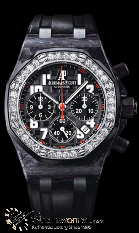 Audemars Piguet Royal Oak Offshore  Chronograph Automatic Women's Watch, Carbon Fiber, Black Dial, 26267FS.ZZ.D002CA.01