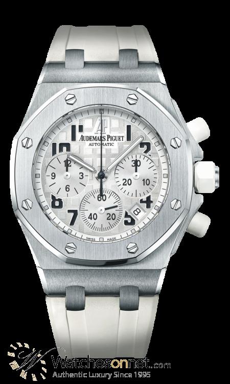Audemars Piguet Royal Oak Offshore  Chronograph Automatic Women's Watch, Stainless Steel, Silver Dial, 26283ST.OO.D010CA.01