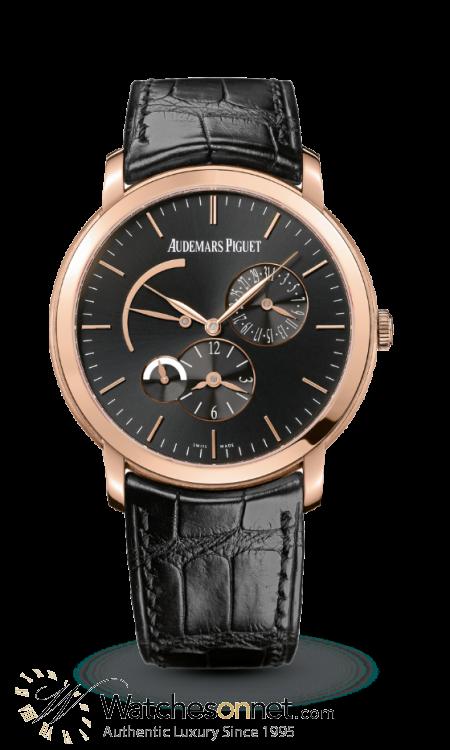 Audemars Piguet Jules Audemars  Dual Time Automatic Men's Watch, 18K Rose Gold, Black Dial, 26380OR.OO.D002CR.01
